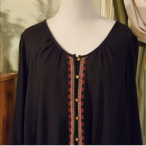 Sonoma long sleeve black blouse